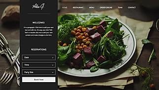 website of a restaurant