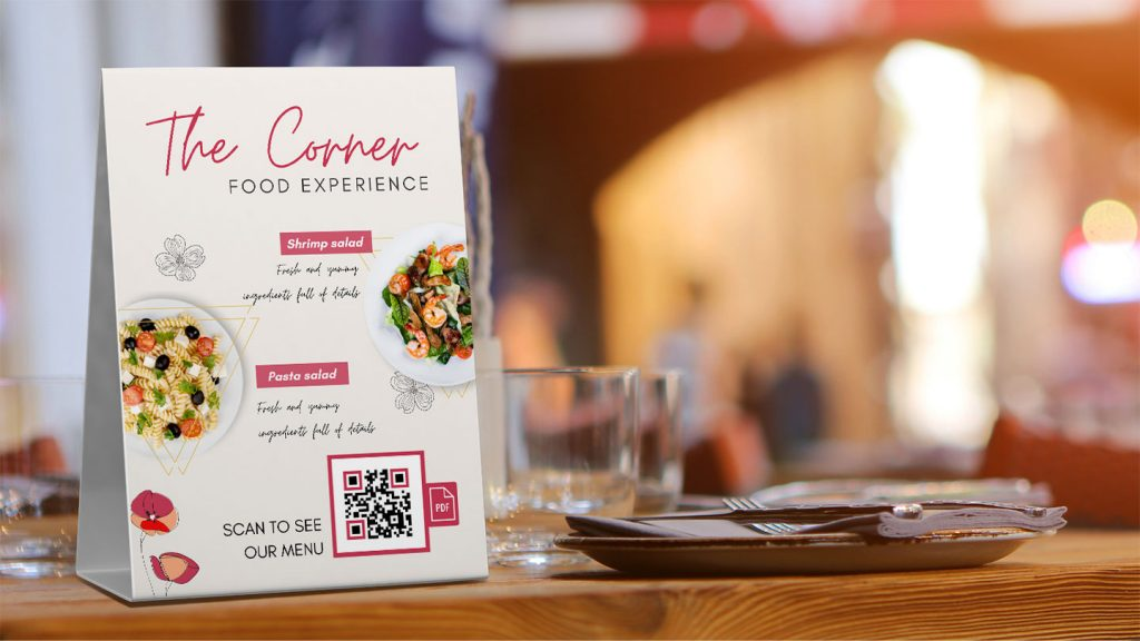 QR code menu for restaurant marketing strategies
