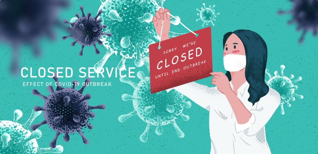 Closed Service during pandemic