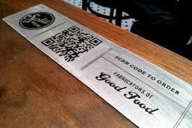 Qr  code menu on table