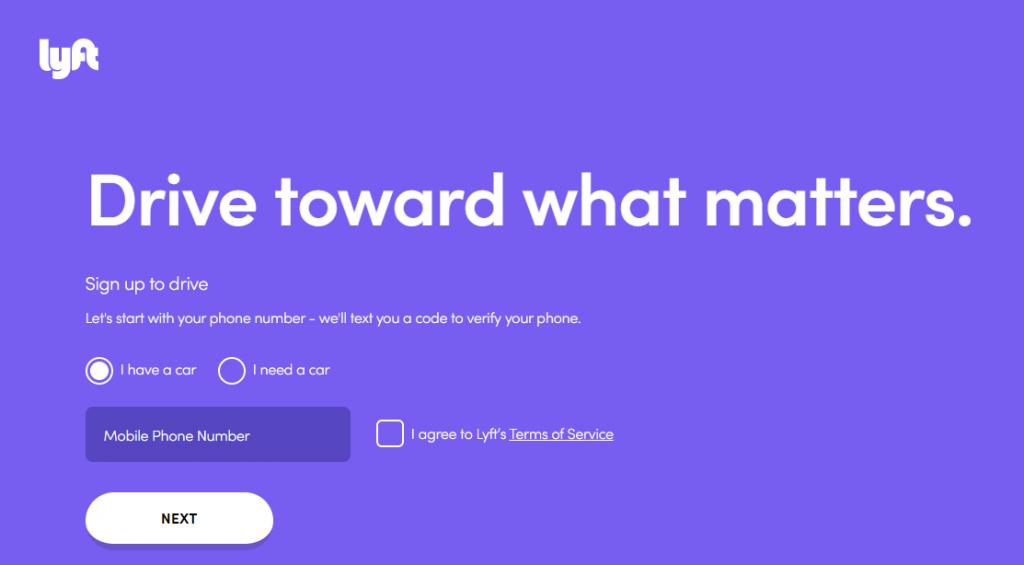 Lyft- Landing Page
